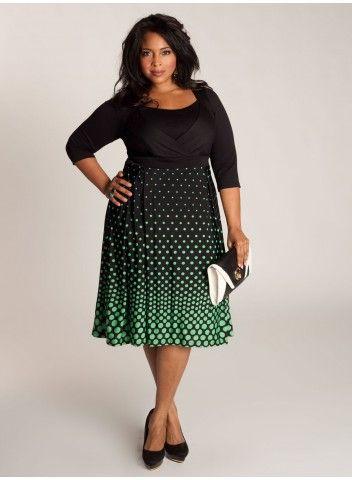 Vera Dress ~ Like the style, longer, lose the dots.