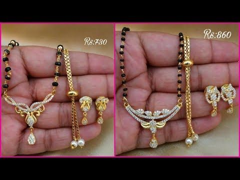 e88267f9859b1 Latest 1 gm gold mangalsutra Designs with price || 1 gram gold ...