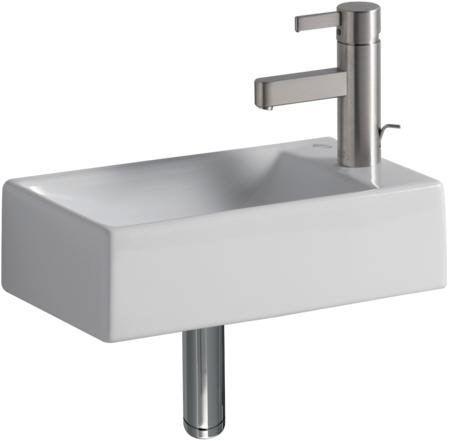 keramag xeno handwaschbecken mit hahnloch rechts 126245000 megabad bad keramag. Black Bedroom Furniture Sets. Home Design Ideas