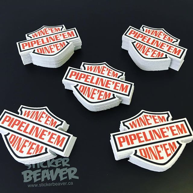 Custom die cut stickers get yours at www.stickerbeaver.ca #pipeline #pipe #oil #oilindustry #pipefitter #yegbiz #diecut #customstickers #albertacanada #madeincanada #stickerbeaver #wearethebeaver #wemakeyourideasstick #westend #thursday #photooftheday