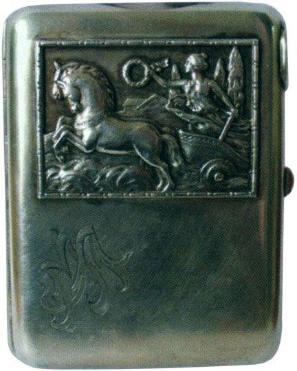 Портсигар в стиле модерн, украшенный изображением на мифологическую тему Конец XIX - начало XX веков