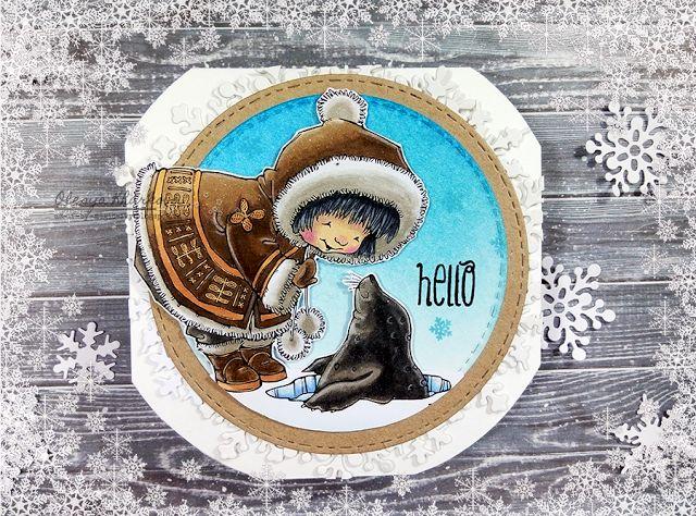 As if by magic by Olesya Kharkova: Winter hello | Card