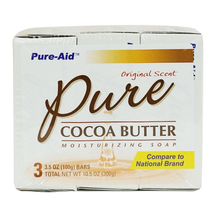 Pure-Aid Pure Cocoa Butter Soap, 3 Bars