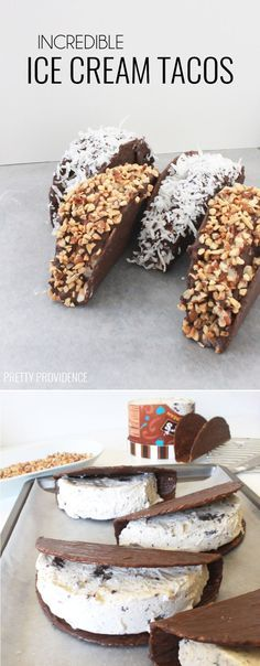 Ice cream tacos. Looks cool, but I wonder how they actually taste?  Seems easy enough to make a small batch to test them out before committing for the party.