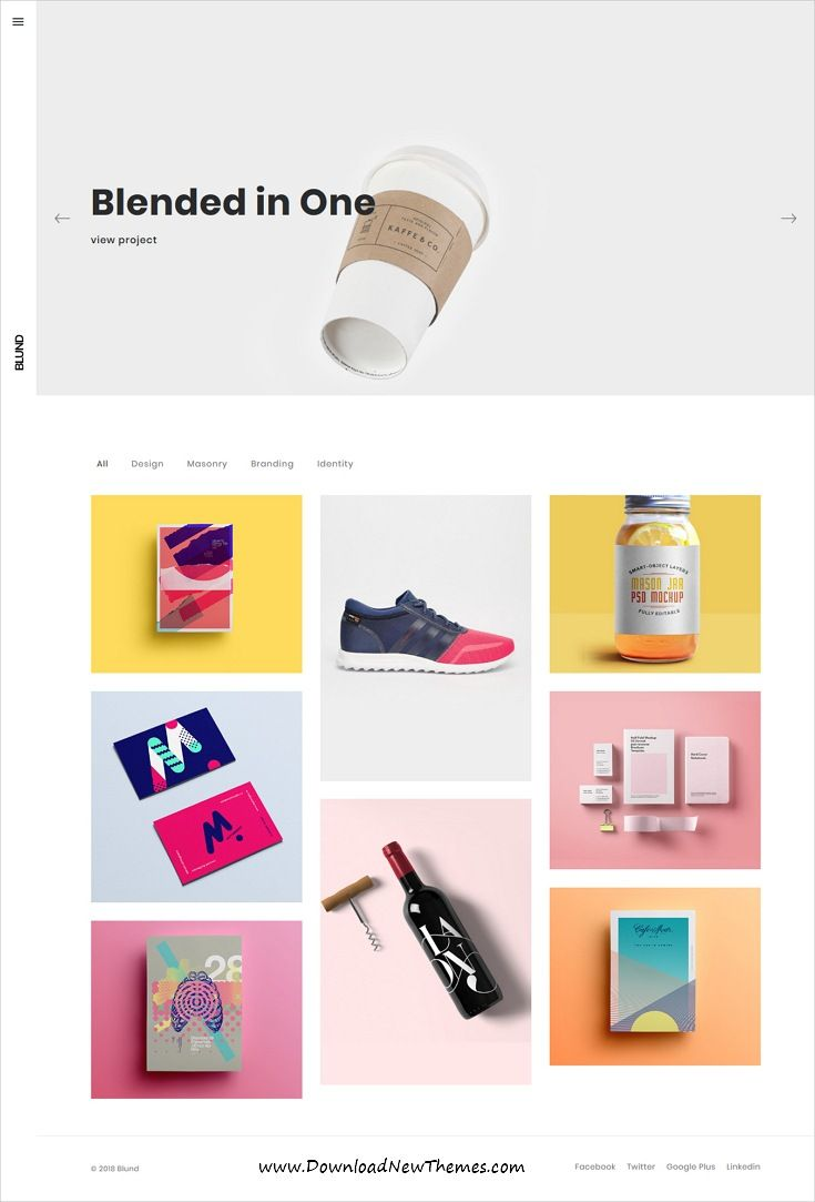Blund is clean, #minimal and modern design 8in1 responsive WordPress #template for #creative #portfolio showcase website to live preview & download click on image or Visit 👆