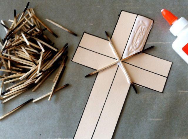 Kinder-Craze: A Kindergarten Teaching Blog: Matchstick Cross Project