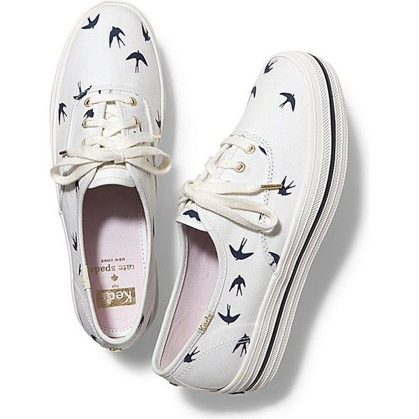 Keds x kate spade new york Triple Bird ($85) ❤ liked on Polyvore featuring shoes, sneakers, cream, keds footwear, lace sneakers, lace shoes, cream shoes et lacy shoes