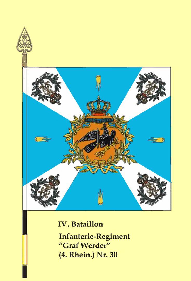 "Fahne 30InfRgt IV.Btl - Régiment d'infanterie ""Grafwerder"" (4ème Rheinisches) n ° 30 - Wikipédia"