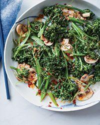 Broccolini, Mushroom and Sesame Salad Recipe on Food & Wine