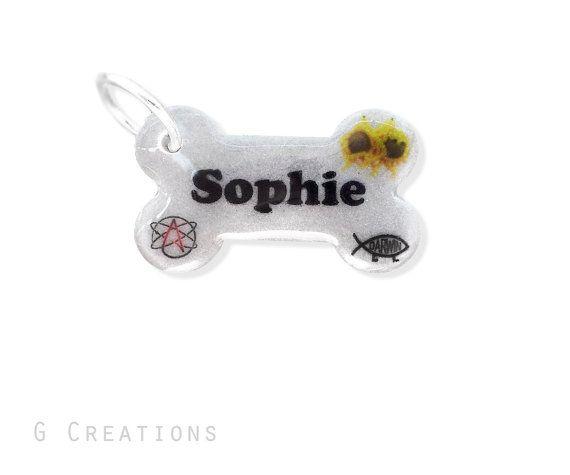 Atheist Bone Dog ID Tag  Pastafarian Glow by GabriellesCreations