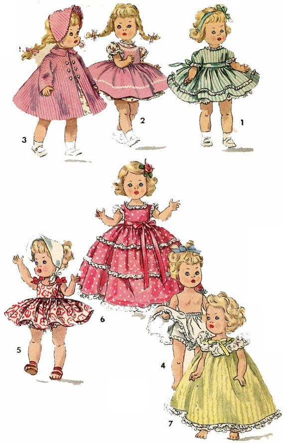 Vintage Doll Clothes PATTERN 1372 for 8 in Ginny by BlondiesSpot, $9.99