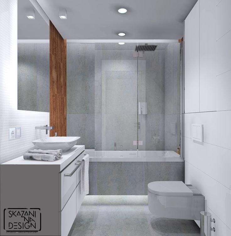 łazienka w mieszkaniu w Sosnowcu, wersja 3