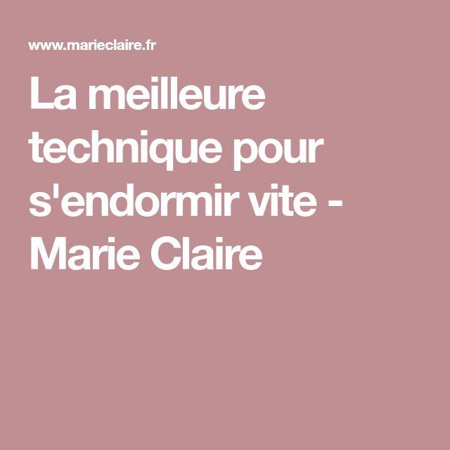 La meilleure technique pour s'endormir vite - Marie Claire