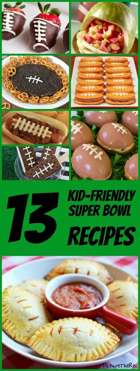 13 irresistible, kid-friendly Super Bowl recipes. #superbowl