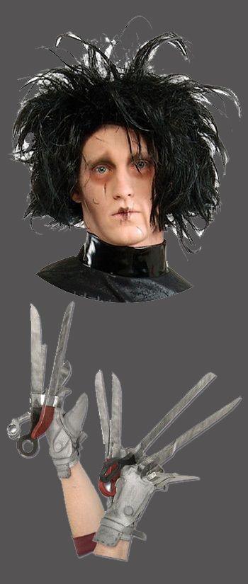Edward Scissorhands Wig & Gloves.