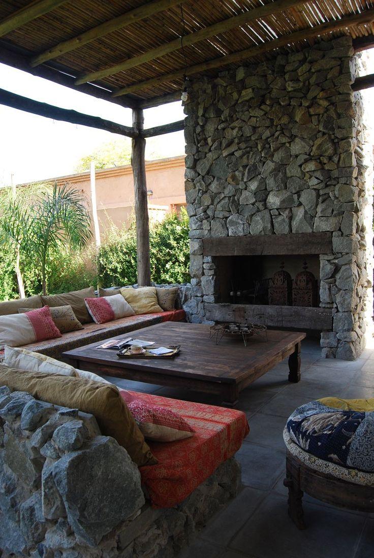 M s de 25 ideas fant sticas sobre chimeneas exteriores en - Chimenea de exterior ...