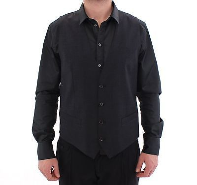 Gray Wool Formal Dress Vest