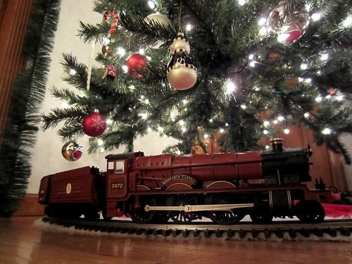 hogwarts express under the christmas tree ive always wantwd to do this - Train For Around Christmas Tree