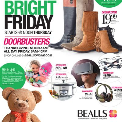 View the Bealls Black Friday 2016 Ad with Bealls (Stage Stores) deals and sales