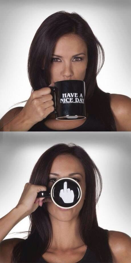 Great idea for my brother as a christmas gift. Have a nice day mug - from eBay.