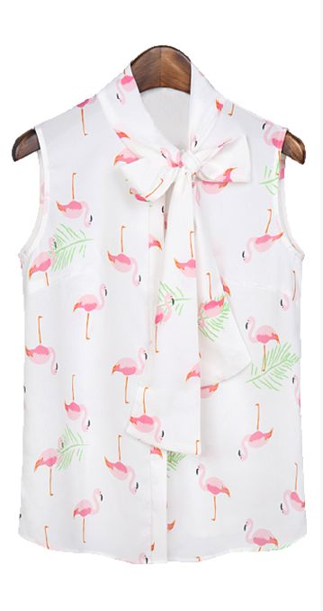 Cute Flamingo Print Top