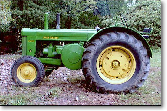 """The R was John Deere's first diesel tractor. It was also the LAST """"Letter Series"""" tractor to be introduced, in 1949."""