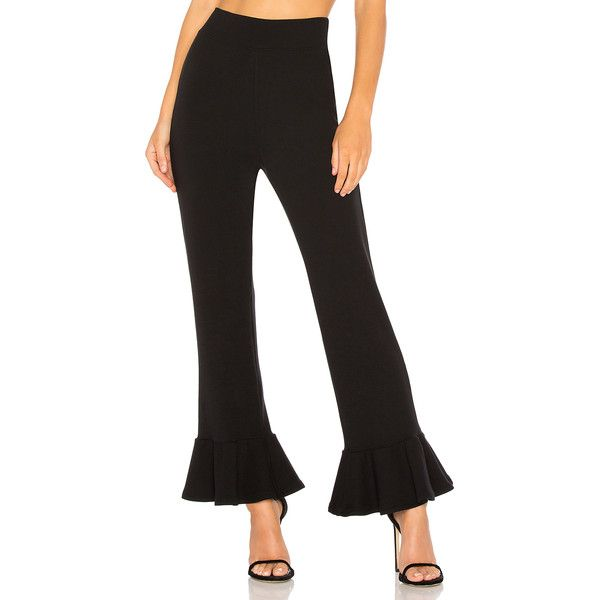 Rachel Pally Luxe Rib Kori Pant (11,950 INR) ❤ liked on Polyvore featuring pants, stretch waist pants, rachel pally, elastic waistband pants, elastic waist pants and ribbed pants