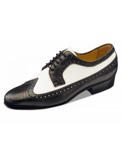 Chaussures de danse noir et blanche, Buenos Aires Nueva Epoca en cuir