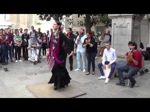 Flamenco dance (5) in Granada 2015 - YouTube