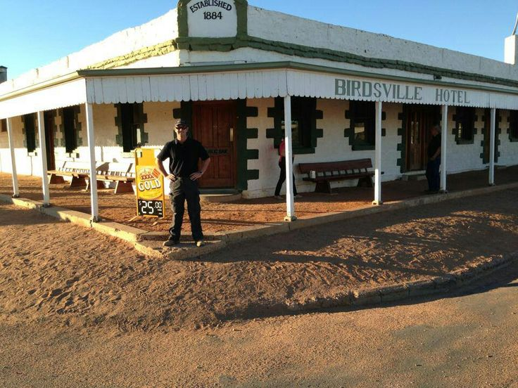 """QLD - Birdsville - Birdsville Pub - to quench your thirst at the end of the """"track"""". Birdsville sits in the vast Diamantina Shire, about 1,600 km west of Brisbane. The traditional custodians of the Birdsville area are the Wangkangurru-Yarluyandi people. To the south of Birdsville lies the legendary Birdsville Track, mapped as a stock route in 1905 and now a major touring route for Outback travellers."""