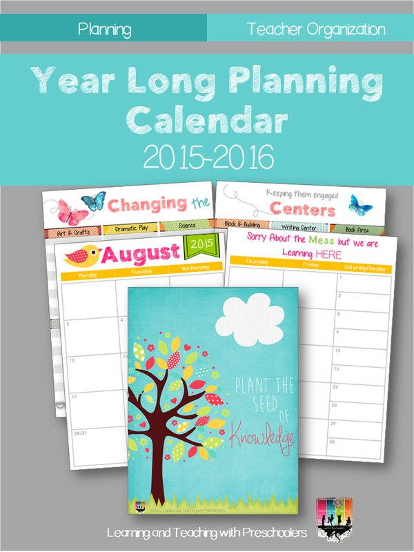 Year Long Calendar : Year long planning calendar don t start your off