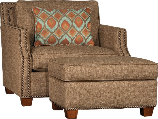 Mayo Furniture 4513 Fabric Chair And Ottoman