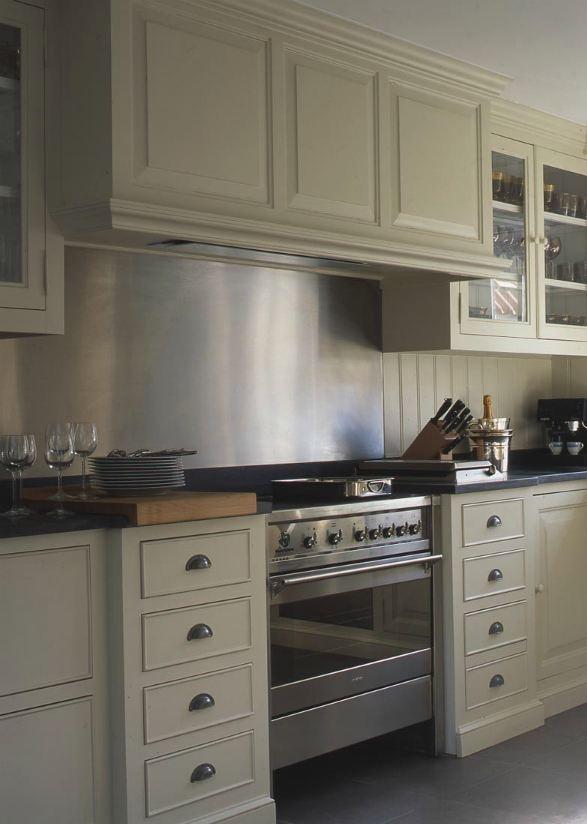 Metal back guard extends into backsplash - 19 Best Images About Backsplash / Kitchen Ideas On Pinterest