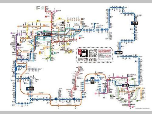 日本風台湾鉄道路線図