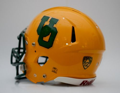Throwback Oregon football helmet for sale via auction. Info here: http://thesportstrap.tumblr.com/post/21731863316/let-the-bidding-war-commence-university-of-oregon #goducks #Oregon #Ducks #style #fashion #design #Nike #football #collegefootball #sports