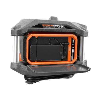 RIDGID X4 18-Volt Cordless Jobsite Radio with ShockMount Technology-R84083 - The Home Depot