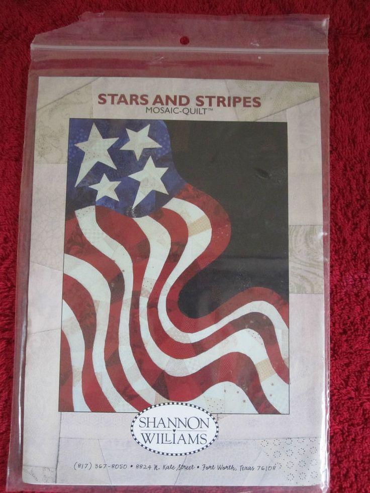 Stars And Stripes Mosaic Quilt Wall Hanging Pattern