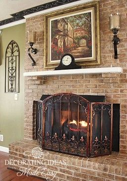 1000 ideas about country fireplace on pinterest rustic for French country fireplace ideas