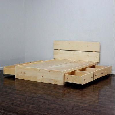 Gothic Furniture Captains Storage Platform Bed Size Full