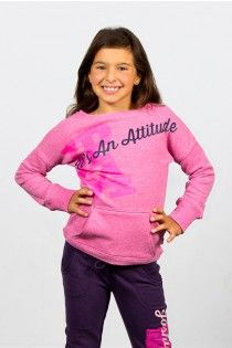 It's more than a name, It's an attitude long sleeves pink top, Joshua Perets