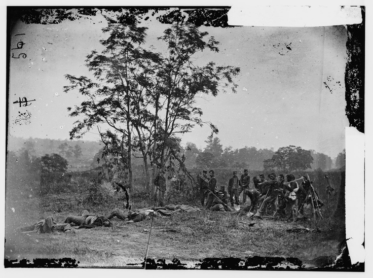 Early photojournalism, before the censors struck! You should read the fascinating story about the significance of the battle and the way the photojournalists displayed their work. A fascinating and  sorrowful insight into that era : 150 Years after Antietam: Photographs by Alexander Gardner - LightBox