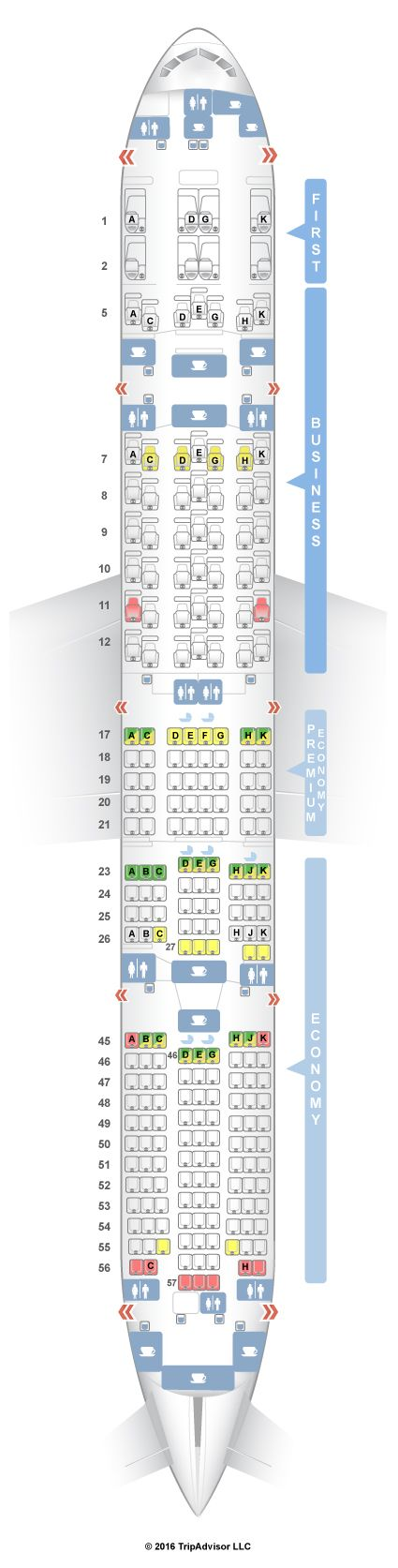 SeatGuru Seat Map Japan Airlines Boeing 777-300ER (773)
