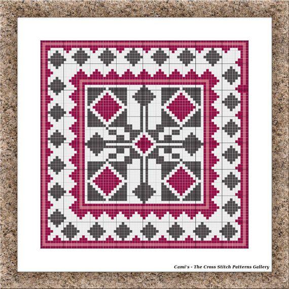 Purple cross stitch pattern Cross stitch by CamisTheCrossStitch