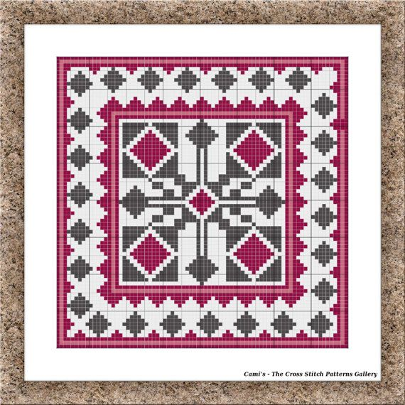 Purple cross stitch pattern Cross stitch by CamisTheCrossStitch