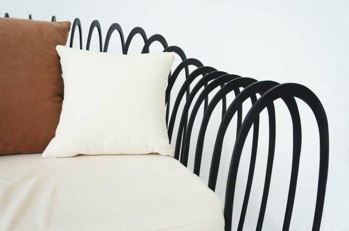 Möbel Design Wave Kollektion von Jihye Choi aus Stahl  Holz Möbel - designer hangesessel satala fuss