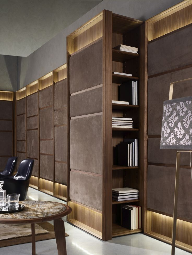 Sectional modular wooden bookcase club by ulivi salotti for Salotti di lusso