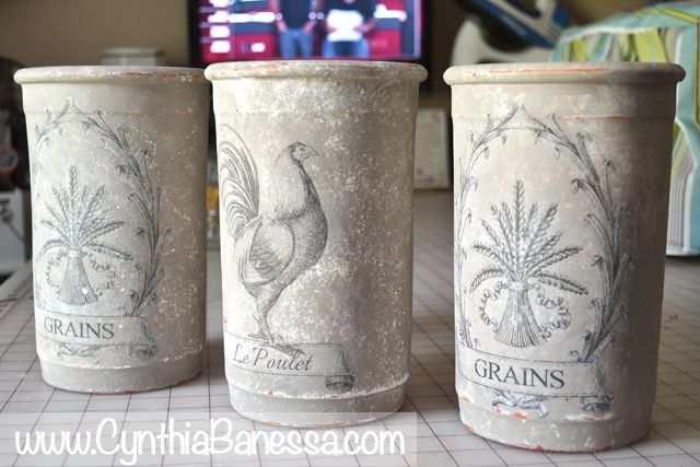 Cynthia Banessa   Transfer Clay Pots to Amazing Home Decor   http://cynthiabanessa.com