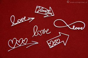 Brush art elements - love arrows