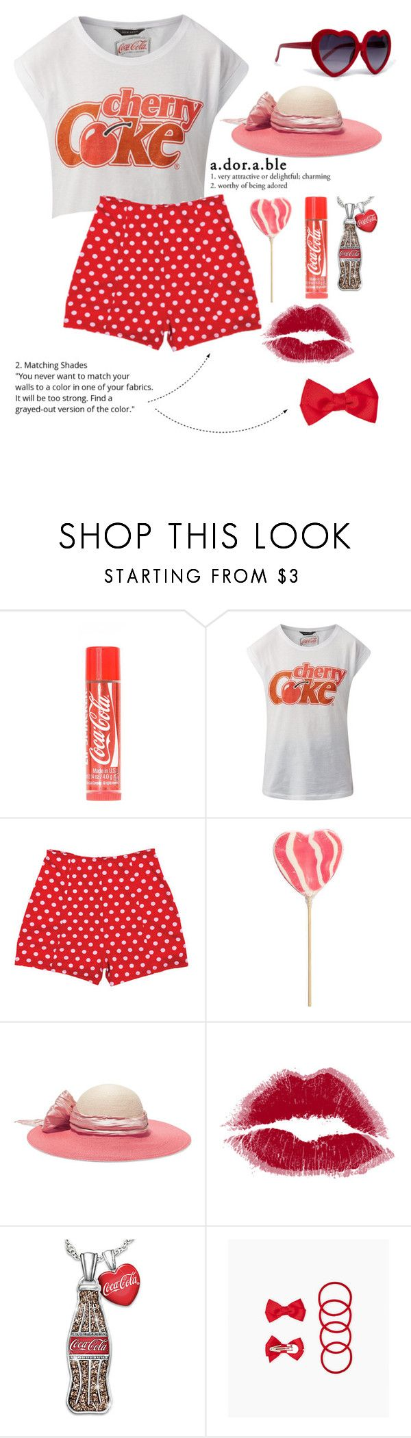 """cherry chapstick"" by rainsday ❤ liked on Polyvore featuring River Island, Eugenia Kim, The Bradford Exchange and ZooShoo"