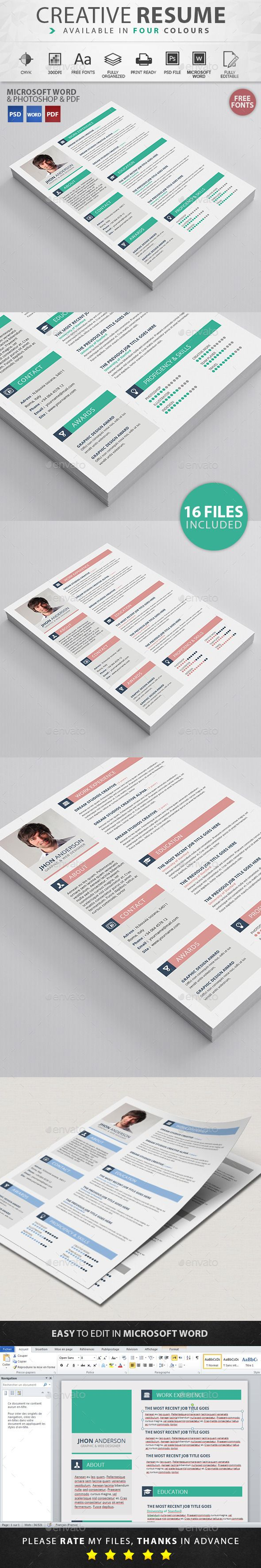 272 Best Resume Design Images On Pinterest Resume Templates Cv